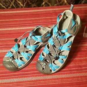 Keen light blue sandals